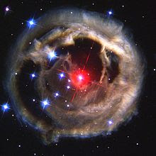 V838 Monocerotis, a variable star accompanied by a light echo, has been erroneously portrayed as Nibiru.