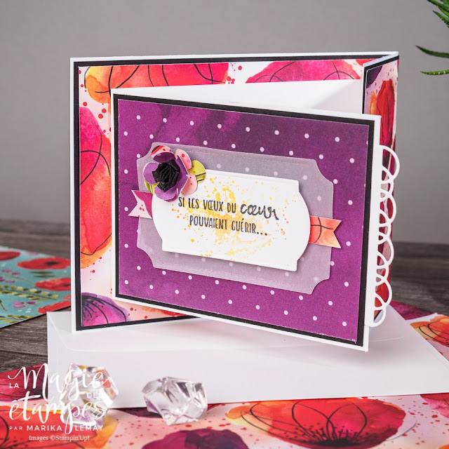 Carte à pliage original avec le jeu Painted poppies Stampin' Up! en vidéo!