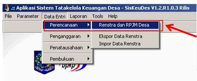 menu-data-entri-perencanaan-siskeudes