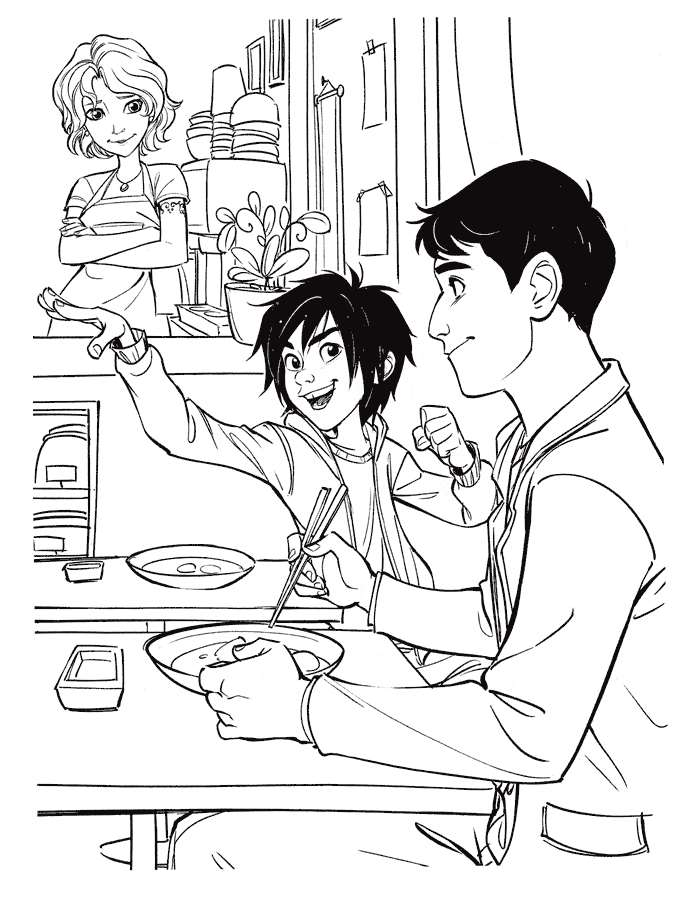 big hero 6 coloring pages hiro - photo #15
