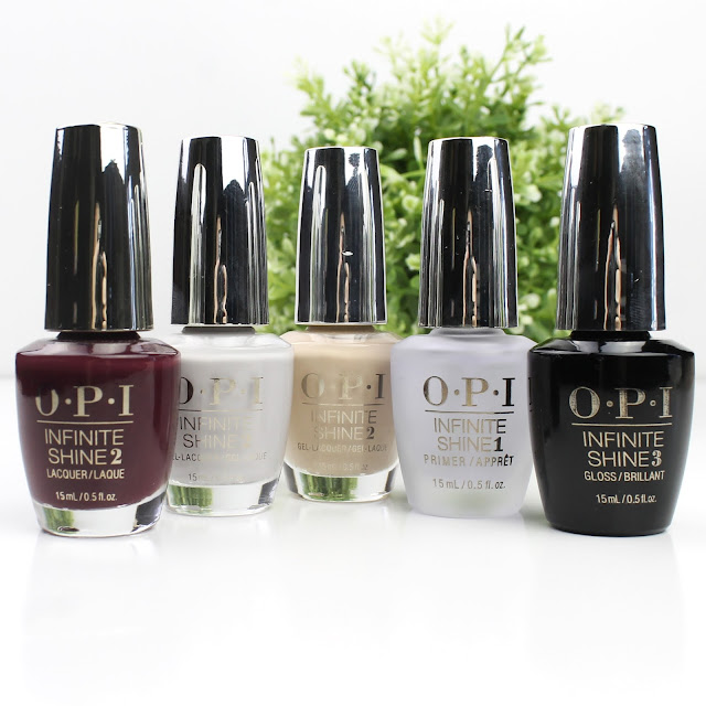 OPI Infinite Shine Lacquer Stick To Your Burgundies Samoan Sand Made Your Look Review Swatches