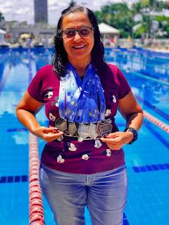 Nadadora registrense é vice-campeã brasileira de natação master