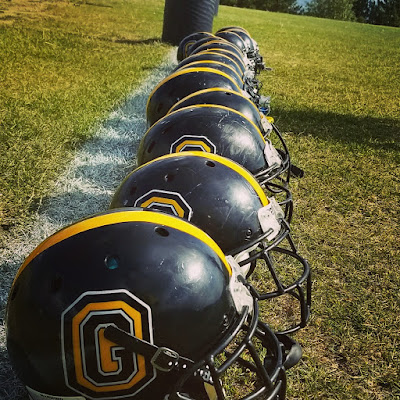 Gilpin Helmet Lineup before the game Craig Ball