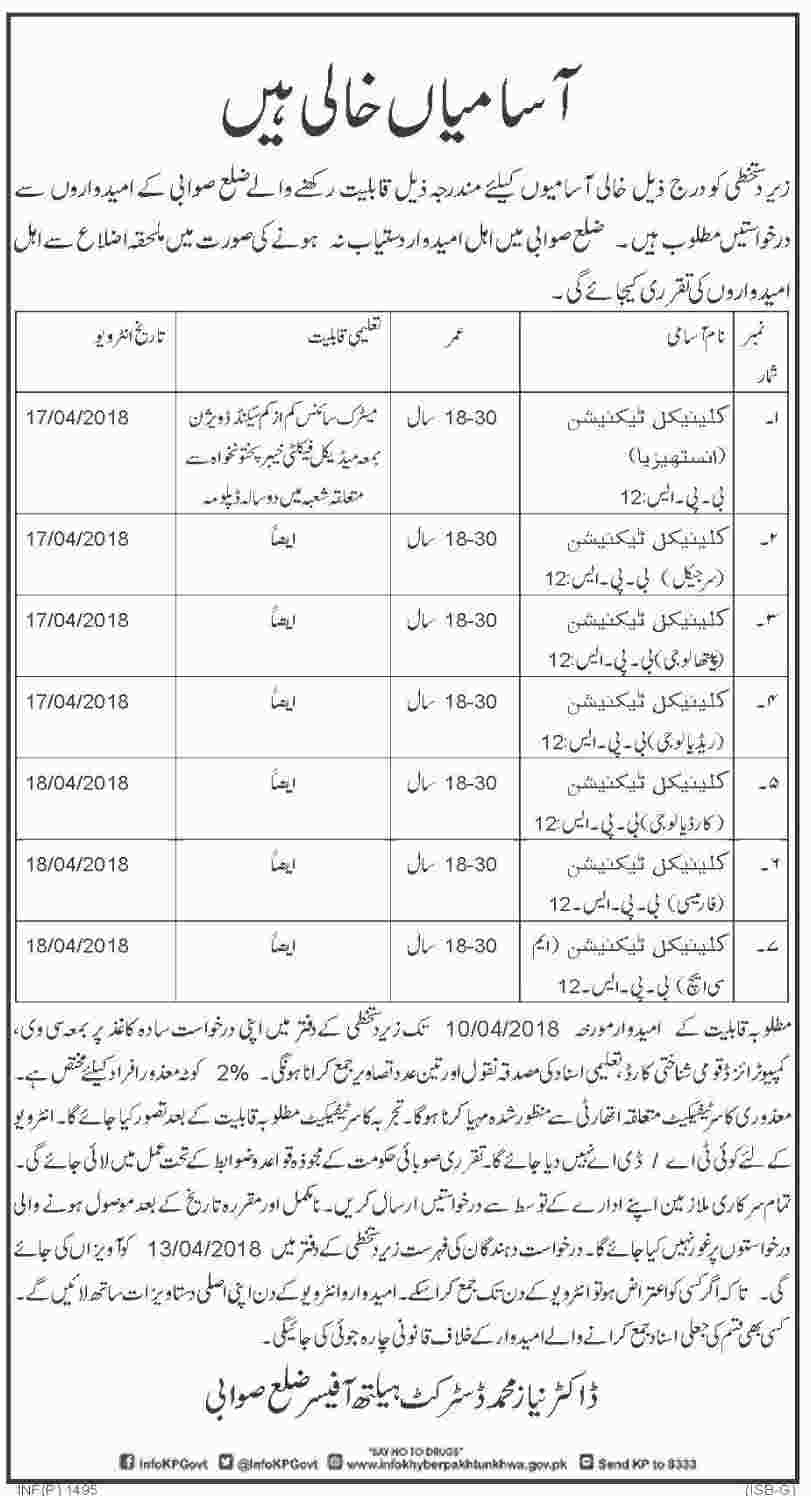 Jobs In District Health Authority Swabi March 2018