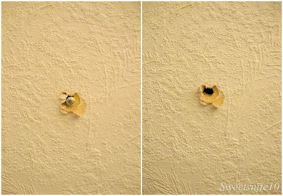 Collage of a hole in the wall