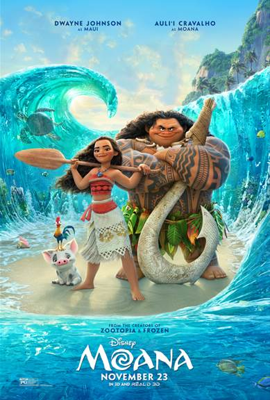Moana, Disney movies, Dwayne Johnson, Auli'i Cravalho, animated movies