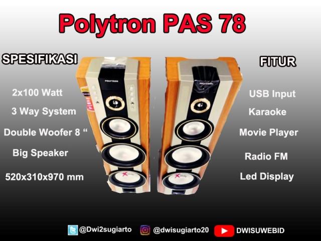 Harga Dan Spesifikasi Speaker Aktif PAS 78