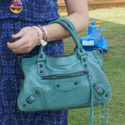 purple accessories with chevere Balenciaga first bag in 2006 Blue India | awayfromtheblue