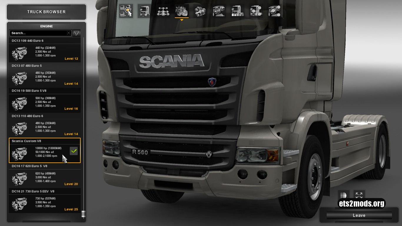 Scania Costum 10000Hp Transmission