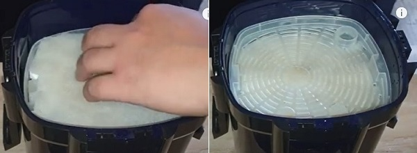 Close the filter basket tray