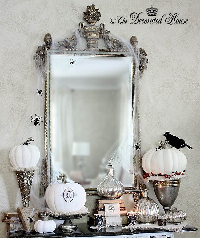 The Decorated House - Elegant Halloween Decorating with Black White and Silver