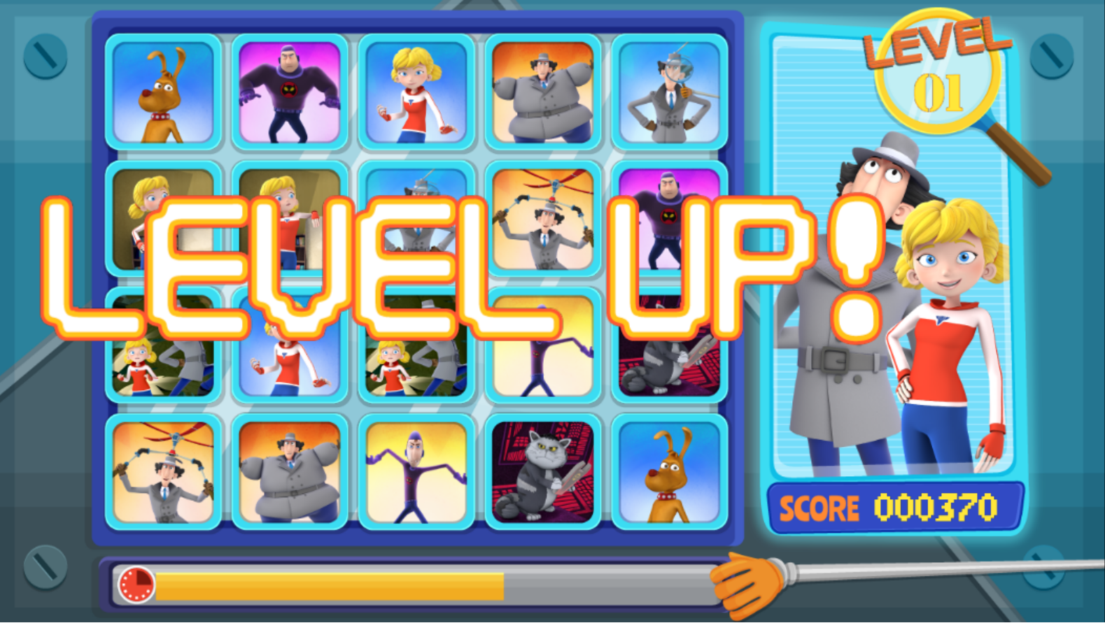 Plays.org Inspector Gadget Let's Inspect Card Matching Game