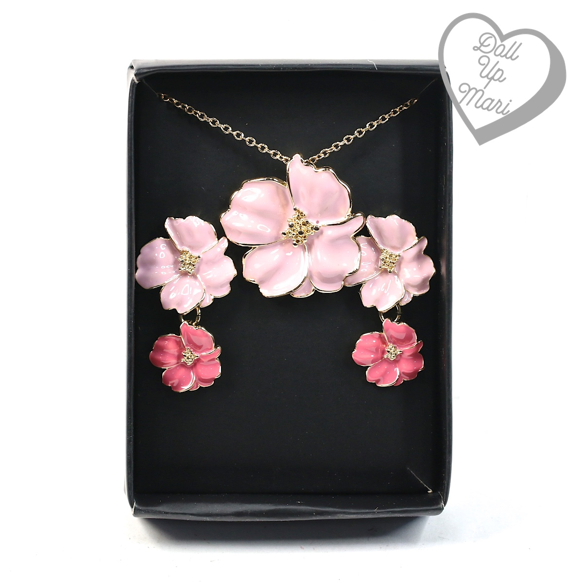 AVON Maxene Floral Statement Necklace and Earring Gift Set