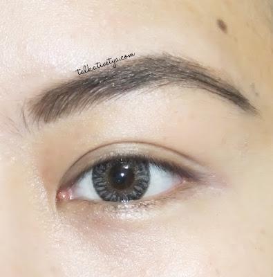 hasil DIY Easy Eyebrow Fix setelah digunakan pada alis