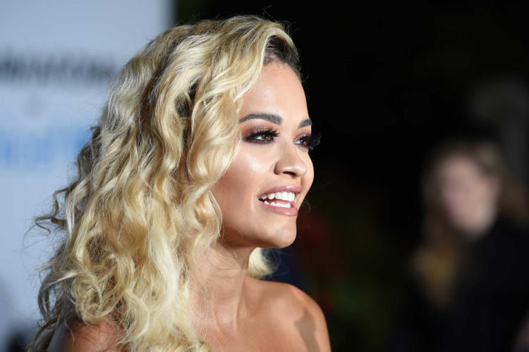 Rita Ora Looks Hot in Party Dress