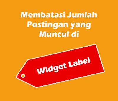 Cara Membatasi Jumlah Postingan yang Muncul di Widget Label