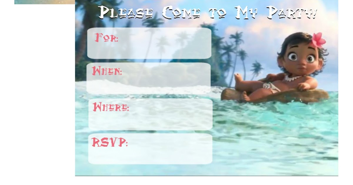 graphic relating to Printable Moana Invitations identify Musings of an Common Mother: Totally free Printable Moana Invites