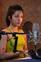 Actress Catherine Tresa Pos during Self Dubbing for Gautham Nanda Movie  0059.JPG