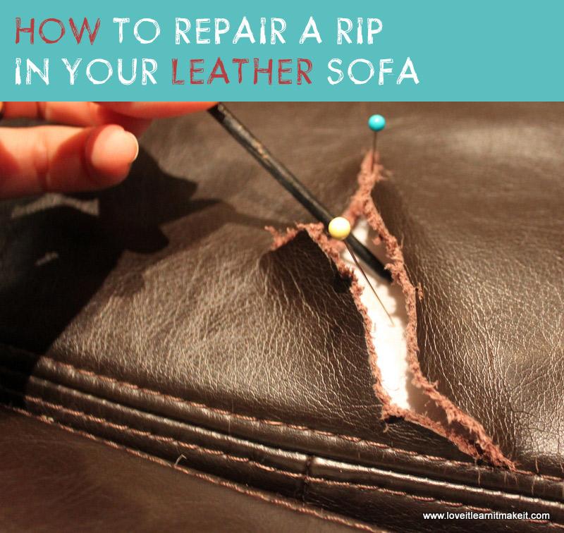 Repair Torn Leather Sofa Repairing Leather And Faux