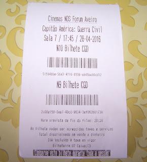 Bilhete de Cinema