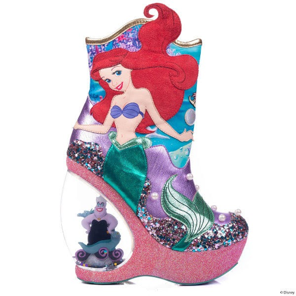 ariel little mermaid boot with ursula sea witch in heel