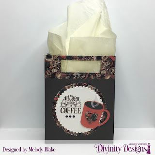 Stamp Set: But First Coffee, Stamp/Die Duos: Cocoa & Coffee, Custom Dies: Scalloped Circles, Card Caddy & Gift Bag, Gift Bag Holders & Topper, Paper Collection: Latte Love