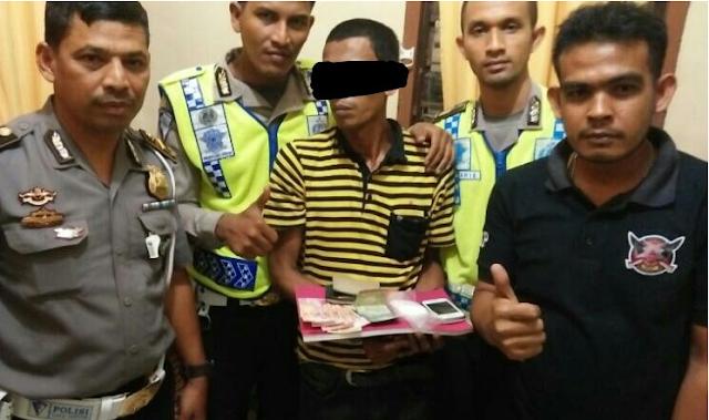 Seorang Honorer Puskesmas Bate, Pidie diamankan Polisi karena membawa Sabu sebanyak 53 gr