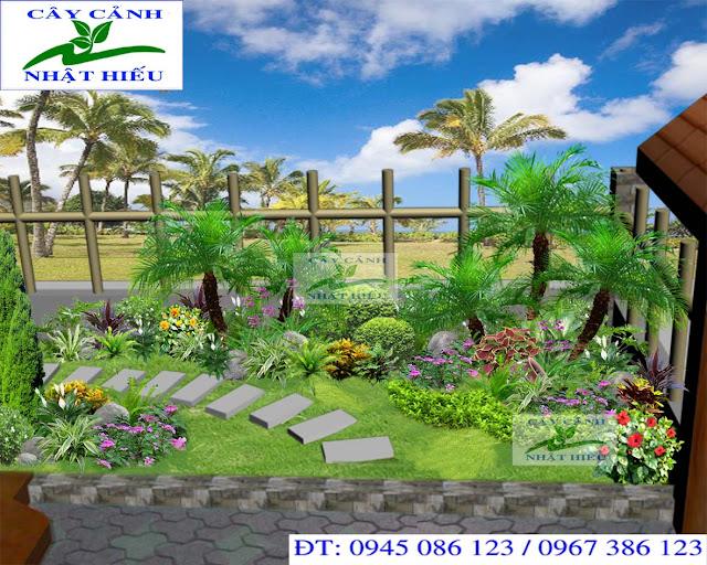 Thiết kế sân vườn biệt thự đẹp và đẳng cấp
