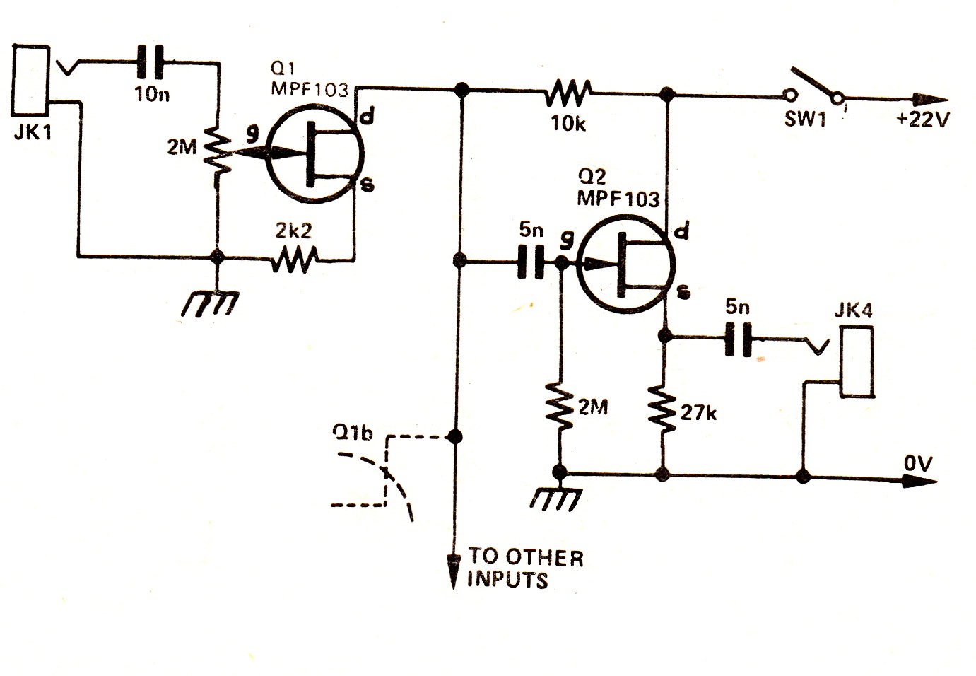 fet audio mixer circuit