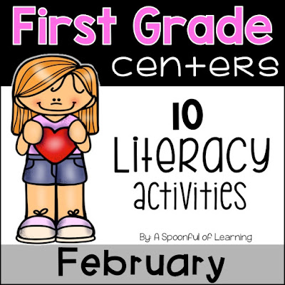 February Centers - 10 Literacy Center