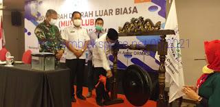 Asisten I Bidang Pemerintahan Kota Jambi Secara Resmi Membuka Musdalub Forum Komunikasi Ormas Kota Jambi.