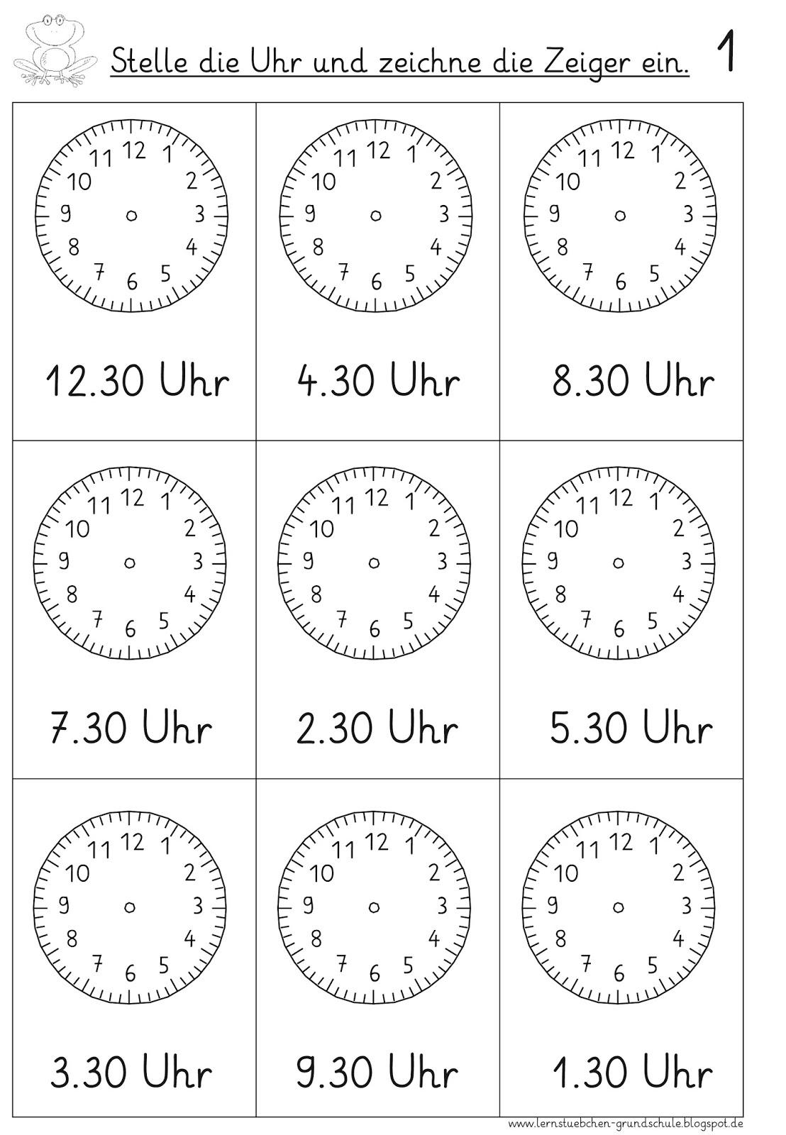 Lernstubchen Vorgegebene Uhrzeiten Einstellen 3