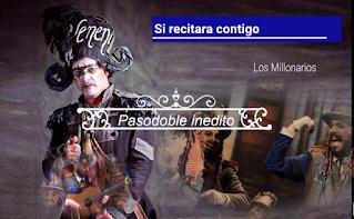 """✨Pasodoble """"Si recitara contigo"""" ⚫No cantado en el Falla 🥇JC Aragón """"Los Millonarios"""" (2015) LETRA"""