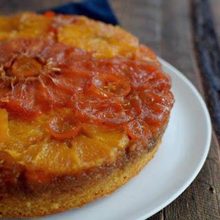 Receta para torta volteada de naranjas y otros cítricos