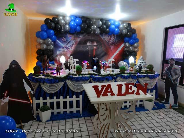 Decoração festa Star Wars - Aniversário infantil - Mesa luxo forrada de pano(tecido em cetim) - Barra RJ