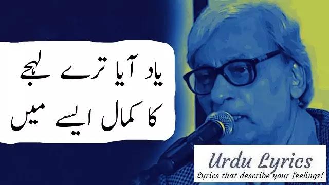 Koi Awaz Na Ahat Na Khayal Aise Main | Naseer Turabi | Urdu Sad Poetry