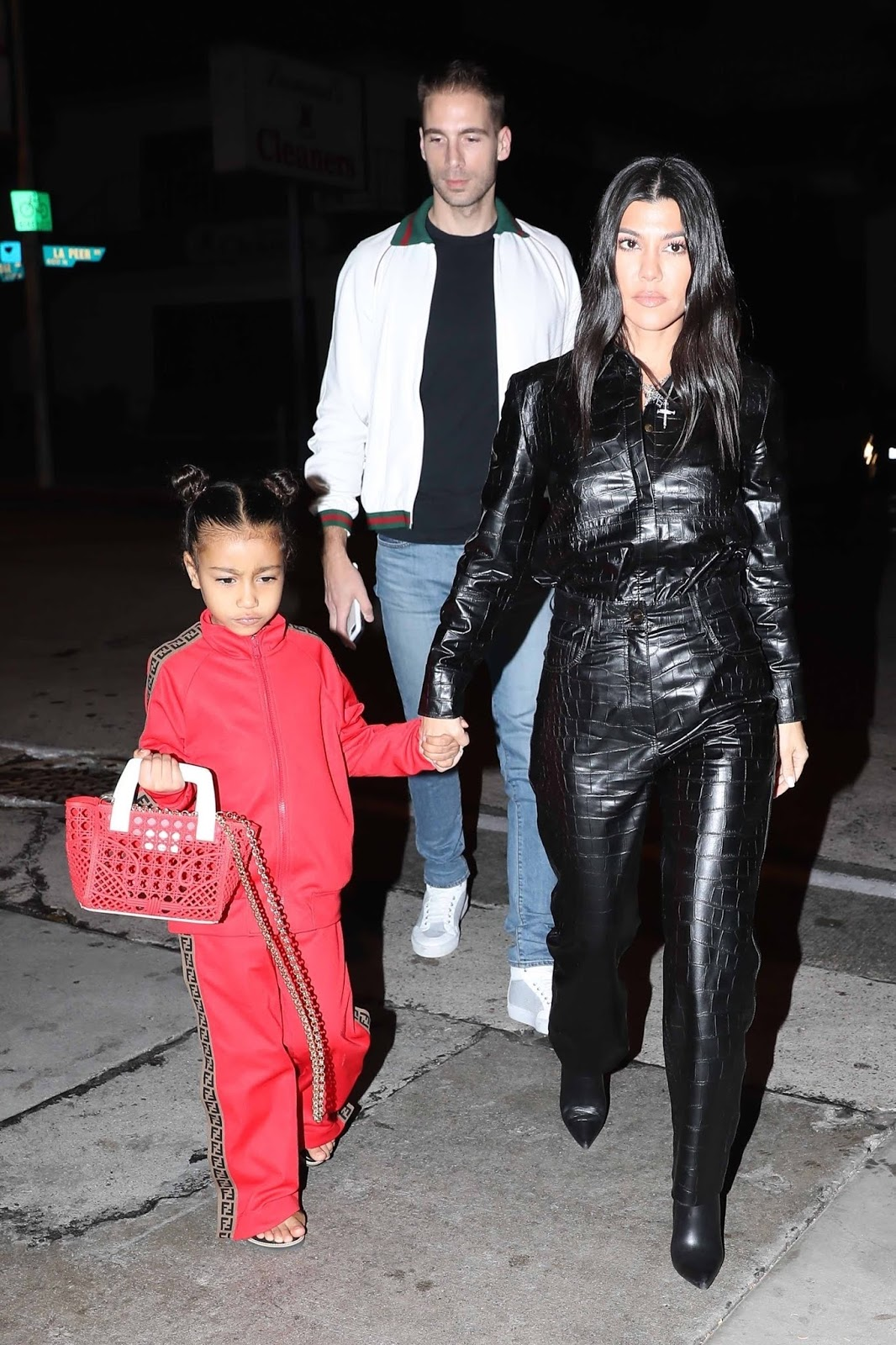 Kourtney Kardashian - goes to dinner at Craig's with her niece North West, West Hollywood 01/11/2019