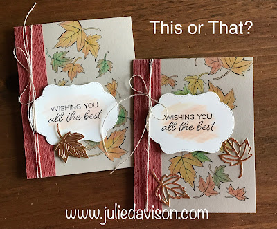 Stampin' Up! Blended Seasons Watercolor Fall Card + VIDEO