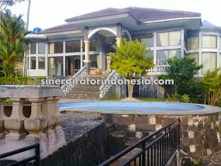 villa luas besar kolam renang bogor sukabumi