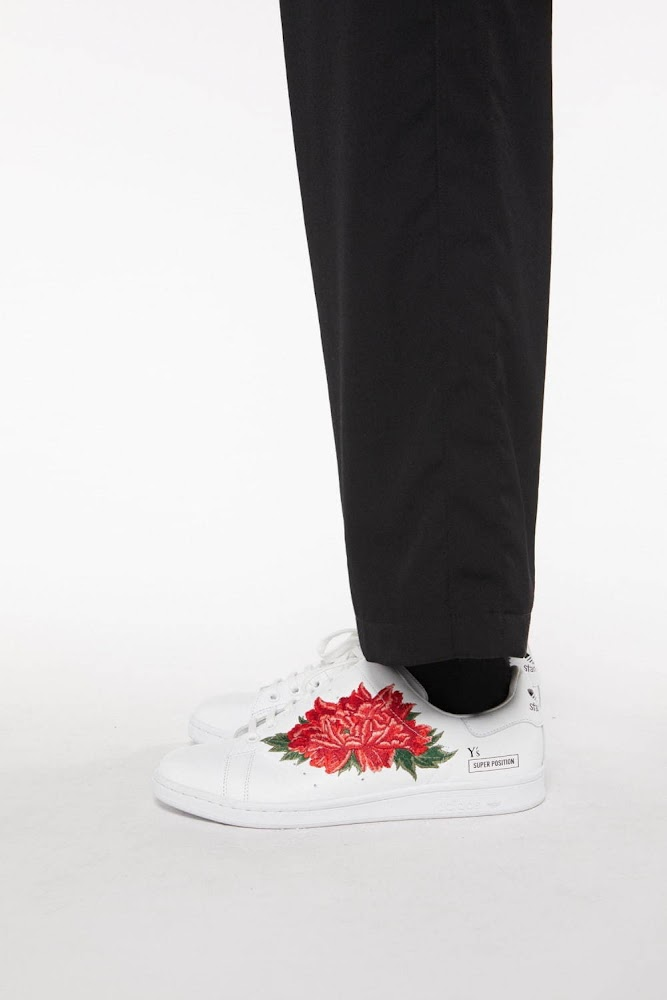 Y's A/W 2020 - Adidas Stan Smith featuring Peony flower 8