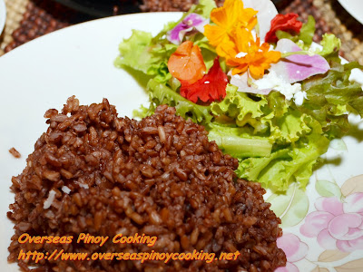 Organic Brown Rice with Edible Flowers