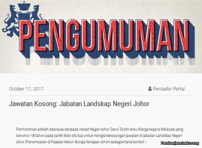 Jabatan Landskap Johor