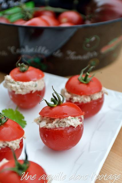 Tomates grappes farcies au thon gingembre citron vert