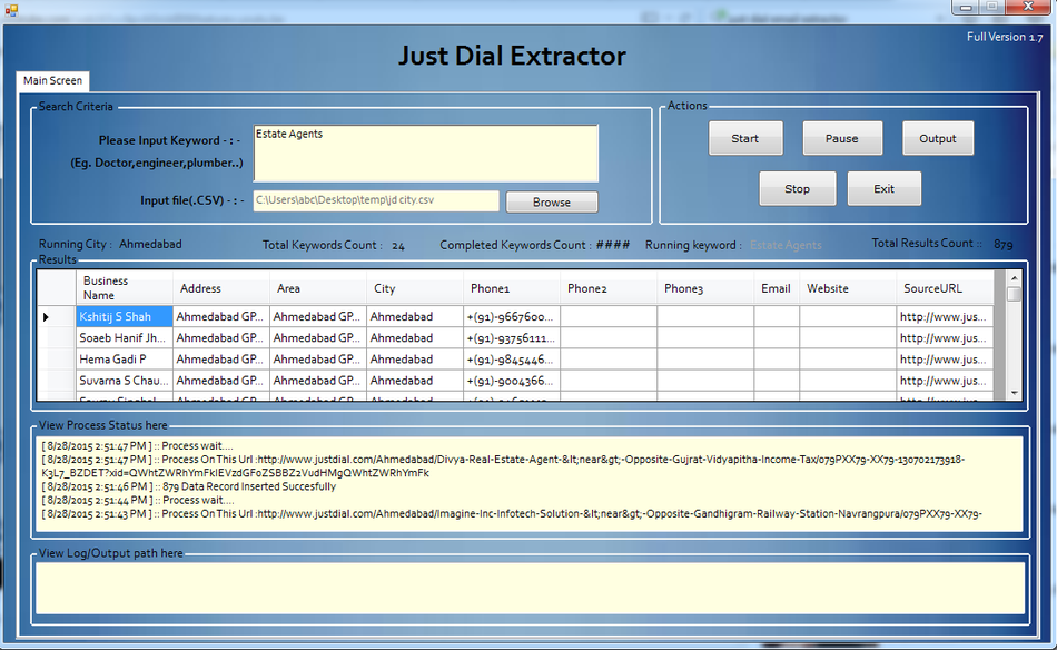 Justdial Data Extractor Software or Justdial Scraper tool | ALL