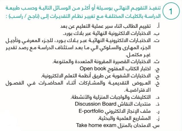 الغاء الاختبارات في السعودية 2020