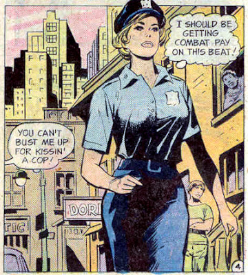 1st Issue Special #4, Lady Cop deserves combat pay