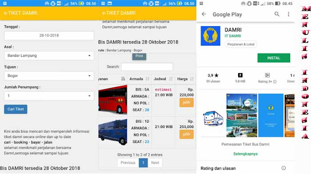 Cara Pesan Tiket Damri Bandung