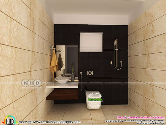 Modern bathroom interiors in Kerala