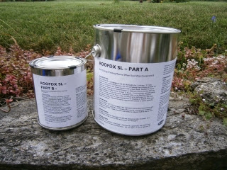 Lead coated copper paint without the lead two-part system before application