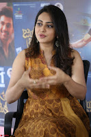 Rakul Preet Singh smiling Beautyin Brown Deep neck Sleeveless Gown at her interview 2.8.17 ~  Exclusive Celebrities Galleries 216.JPG